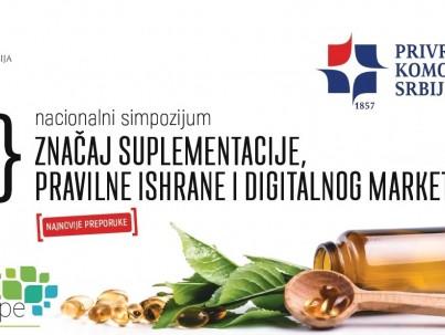 """Simpozijum 07. juna u Beogradu,  tema """"Značaj suplementacije, pravilne ishrane i digitalnog marketinga"""""""